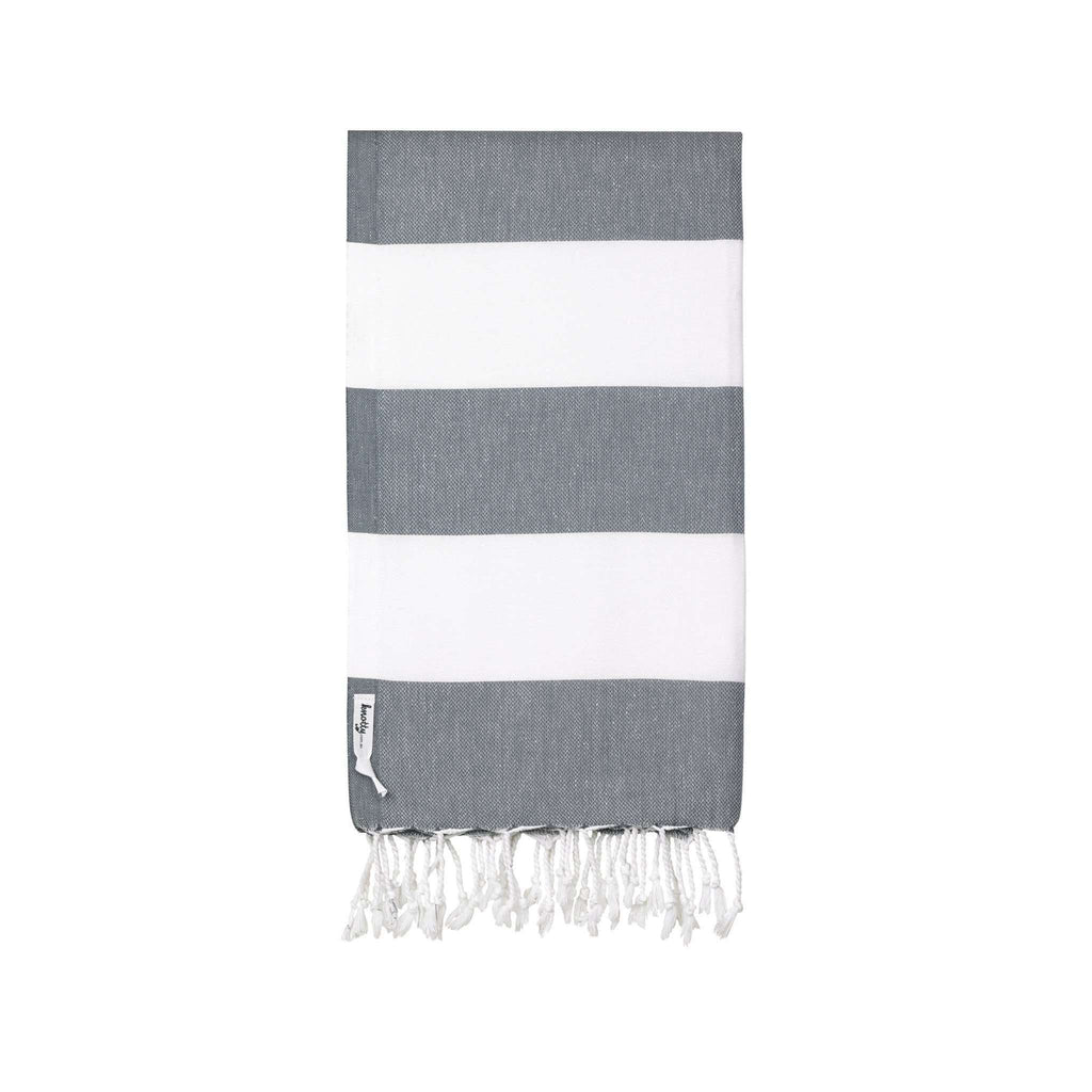 Knotty Capri Turkish Towel - CHARCOAL - Knotty.com.au