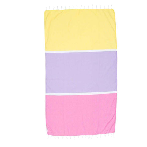 Knotty Colourblock Turkish Towel - BONDI