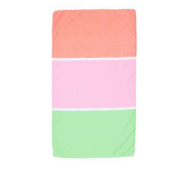Knotty Colourblock Turkish Towel - BRONTE