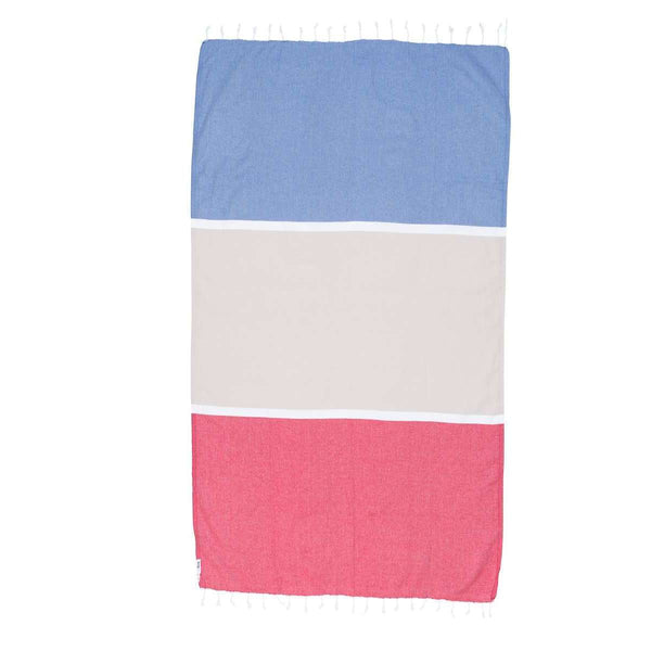 Knotty Colourblock Turkish Towel - MANLY - Knotty.com.au