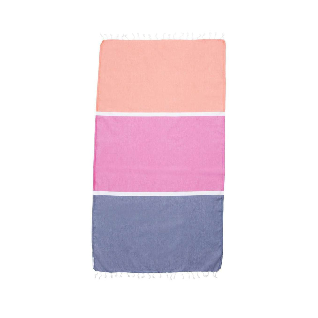 Knotty Colourblock Turkish Towel - PORTSEA - Knotty.com.au