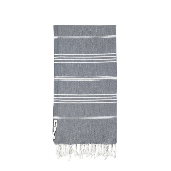 Knotty Original Turkish Towel - CHARCOAL - Knotty.com.au