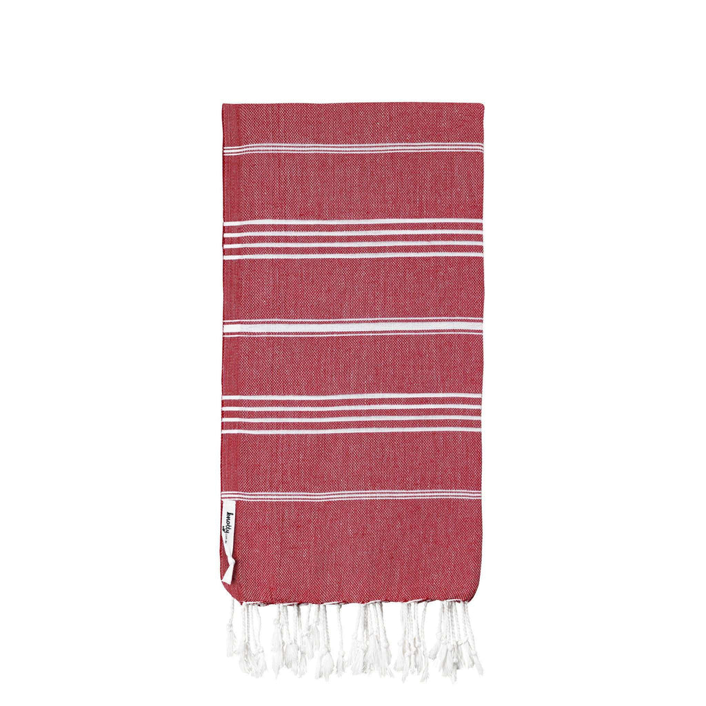 Knotty Original Turkish Towel - CHERRY - Knotty.com.au