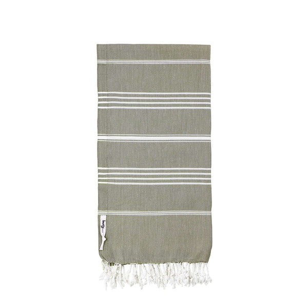 Knotty Original Turkish Towel - KHAKI - Knotty.com.au