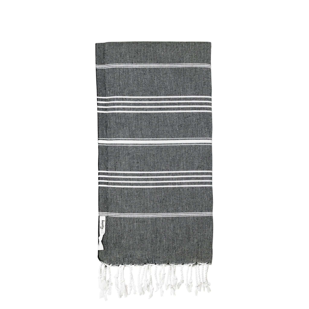 Knotty Original Turkish Towel - MIDNIGHT - Knotty.com.au