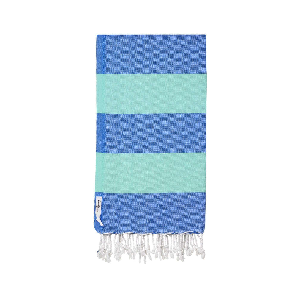 Knotty Superbright Turkish Towel - OCEAN - Knotty.com.au