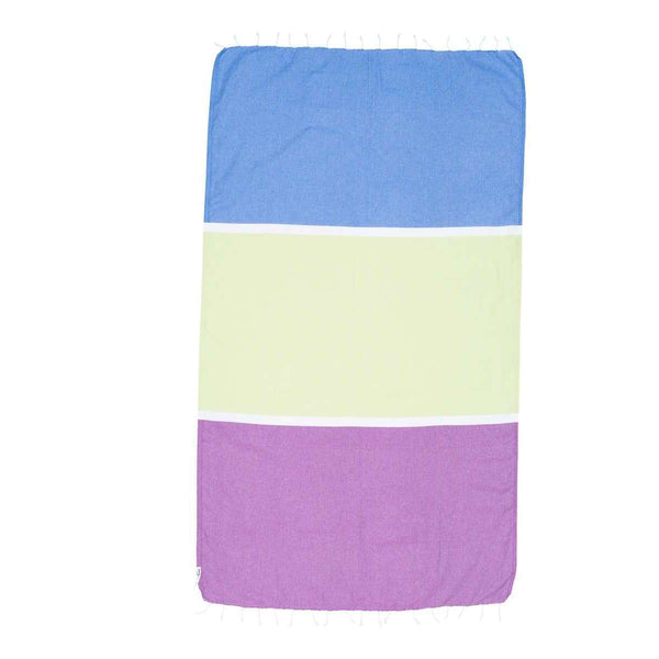 Knotty Colourblock Turkish Towel - SORRENTO - Knotty.com.au