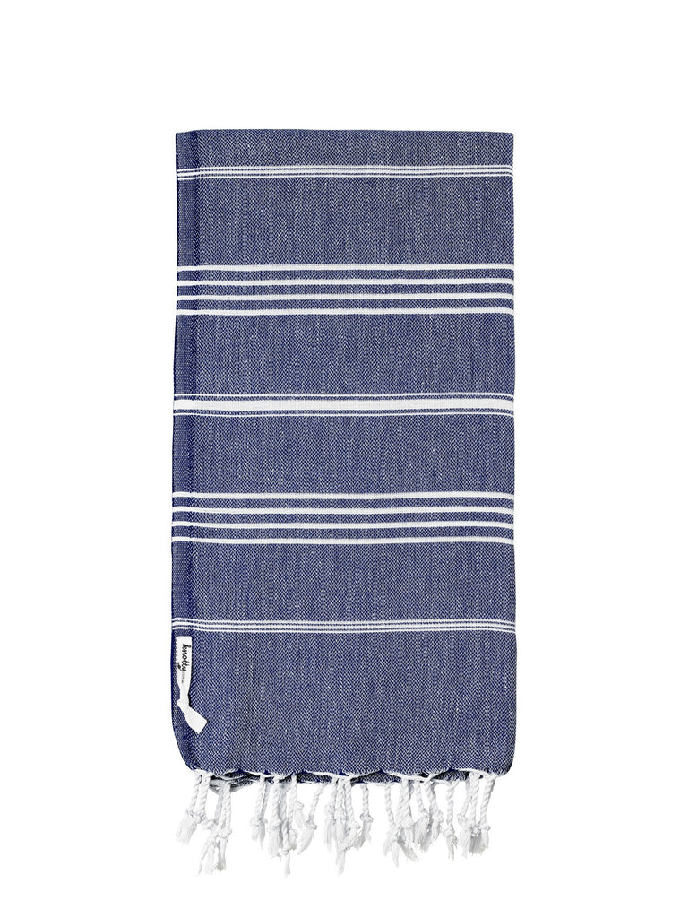 Knotty Original Turkish Towel - NAVY - Knotty.com.au