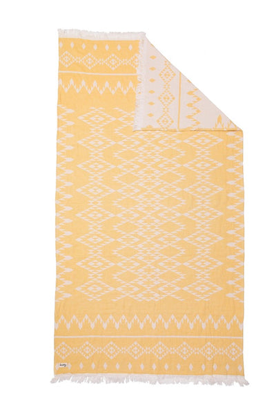 Kilim Knotty Turkish Towel - Saffron - Knotty.com.au