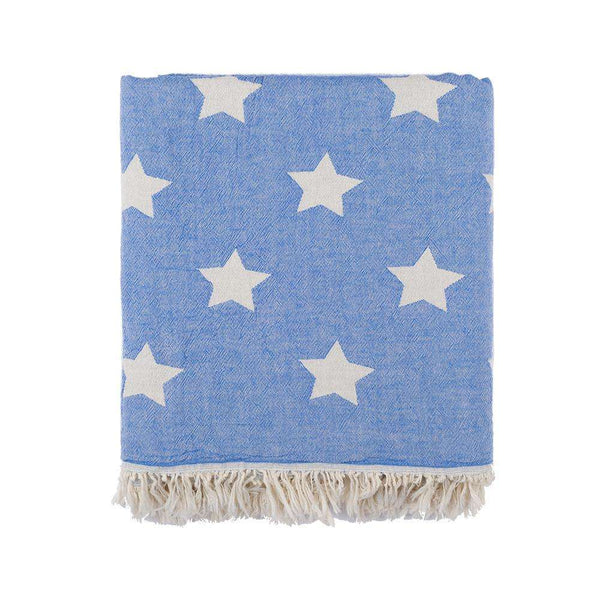 Oteki Knotty Turkish Towel - STAR Blue - Knotty.com.au