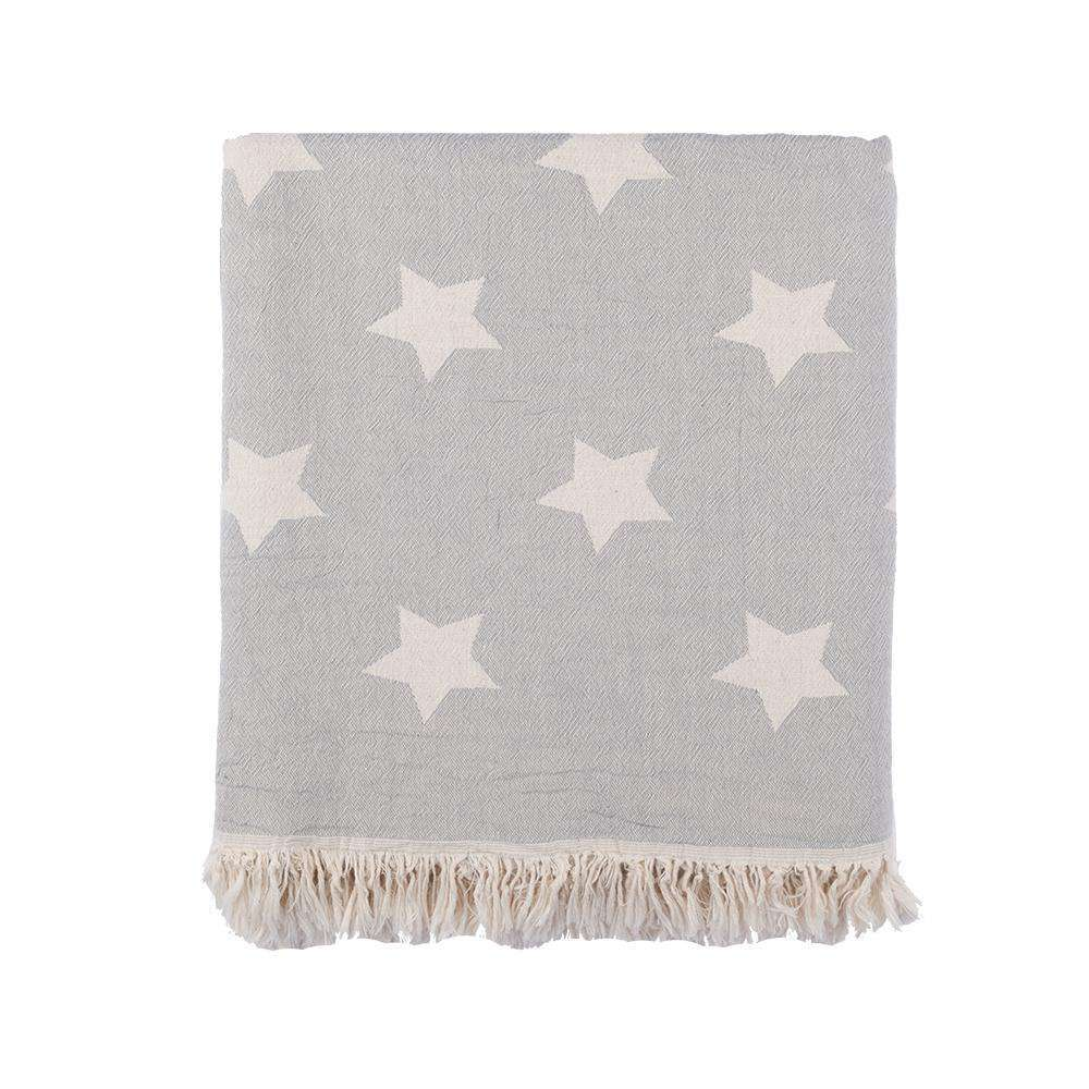 Oteki Knotty Turkish Towel - STAR Grey - Knotty.com.au