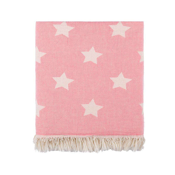 Oteki Knotty Turkish Towel - STAR Pink - Knotty.com.au