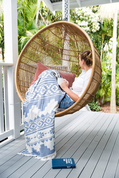 Arizona Knotty Beach Blanket - Denim - Knotty.com.au