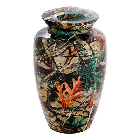 Camouflage Urn For Ashes, Bush Design 0 - Exquisite Urns