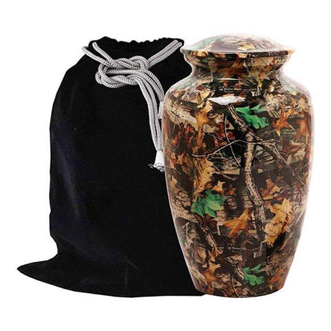 Camouflage Urn For Ashes, Modern Bush Design 9