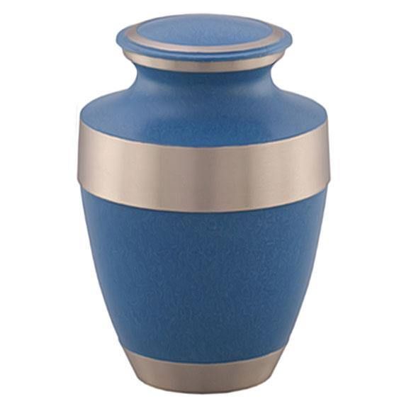 Adria Golden Blue Brass Urn - Exquisite Urns