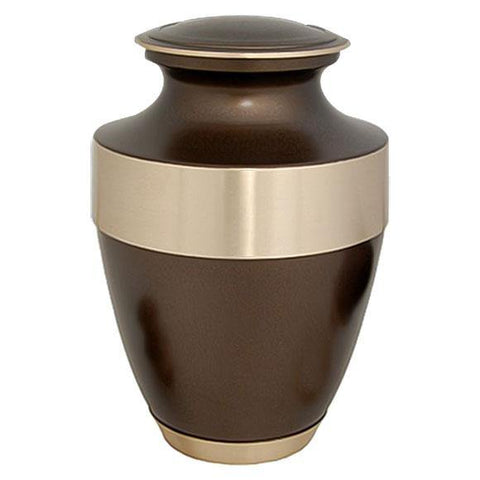 Adria Golden Brown Brass Urn - Exquisite Urns