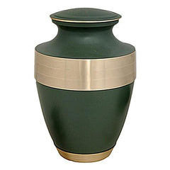 Adria Golden Green Brass Urn