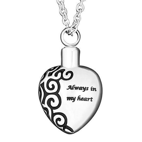 Always in My Heart Keepsake Pendant in Silver