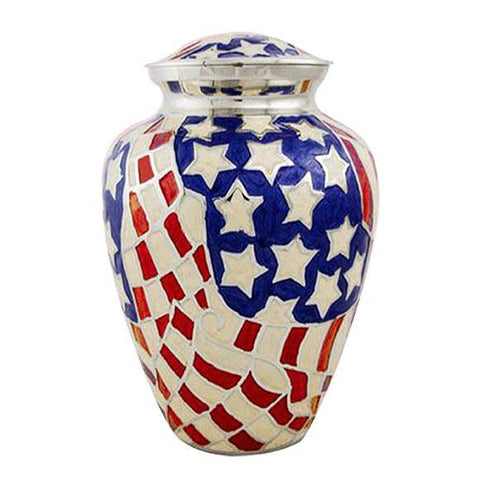 American Flag Military Urn - Elite - Exquisite Urns