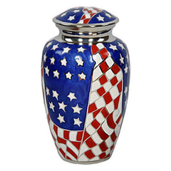 American Flag Military Urn - Exquisite Urns