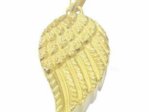 Angel Wings Keepsake Cremation Pendant in Gold