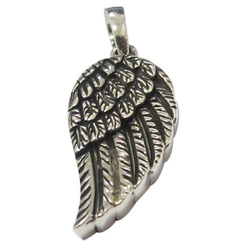 Angel Wings Keepsake Cremation Pendant in Silver - Exquisite Urns