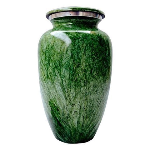 Antique Parisian in Green Finish Adult Urn