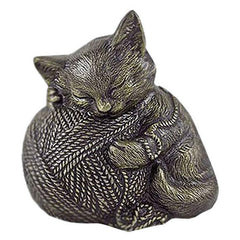 Sleeping Cat Pet Urn in Bronze