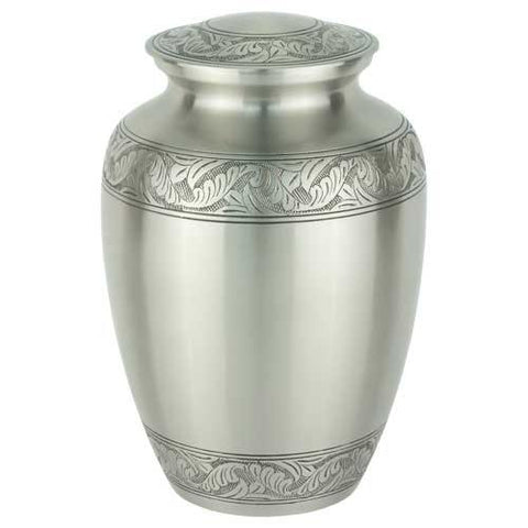 Classic Laurel Pewter Brass Urn - Extra Large - Exquisite Urns