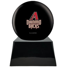 Baseball Cremation Urn with Optional Arizona Diamondbacks Ball Decor and Custom Metal Plaque