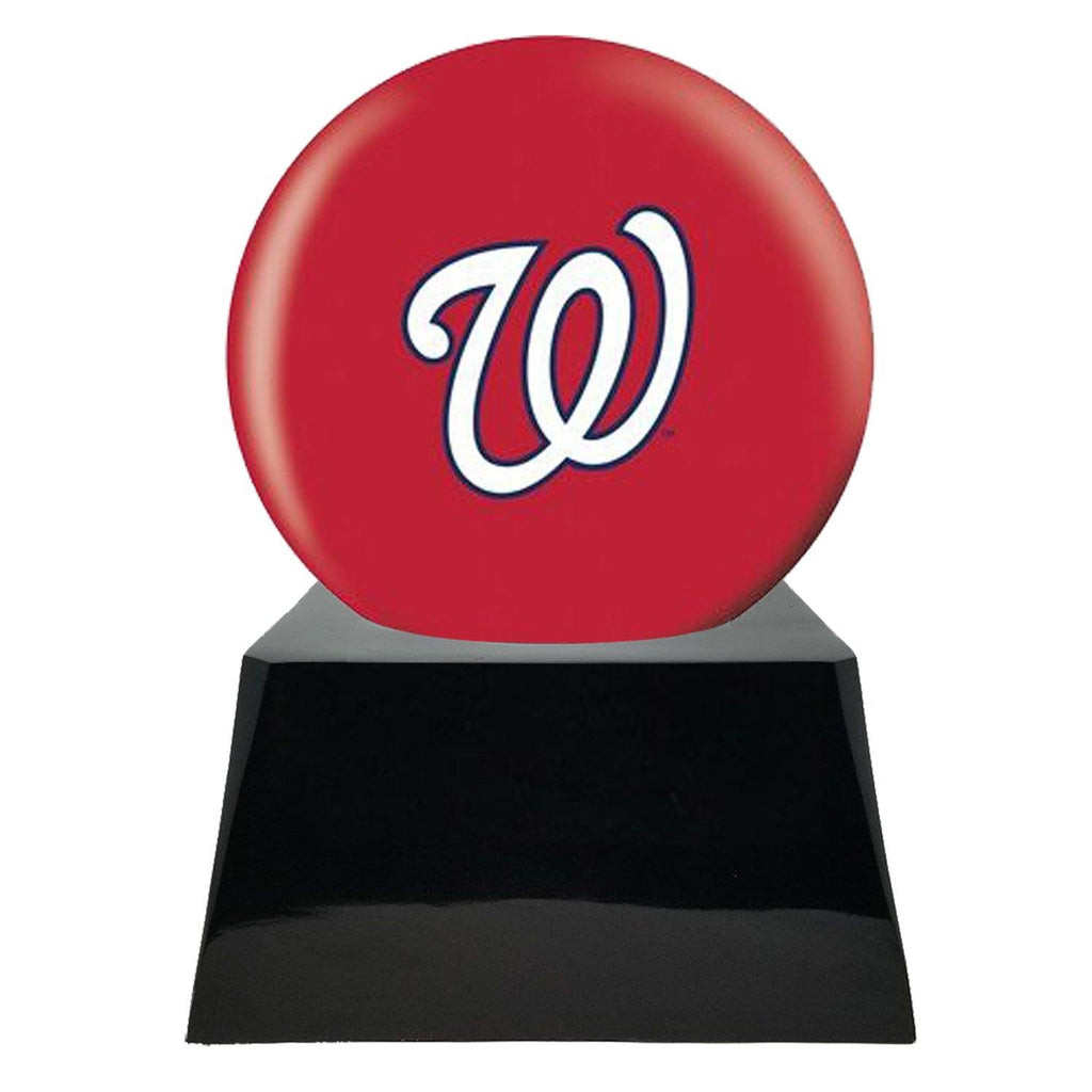 Baseball Cremation Urn with Optional Washington Nationals Ball Decor and Custom Metal Plaque - Exquisite Urns