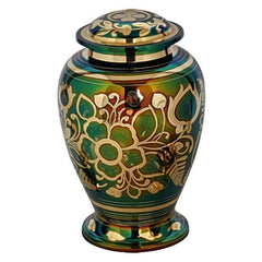 Rainbow Floral Adult Urn For Ashes