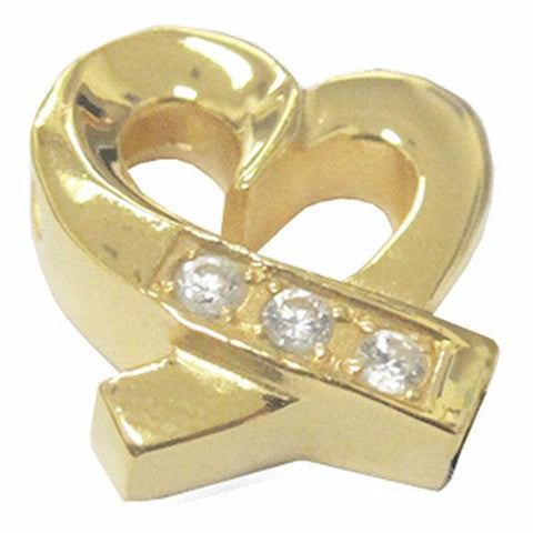Shimmering Heart Cremation Jewelry Keepsake Pendant in Gold