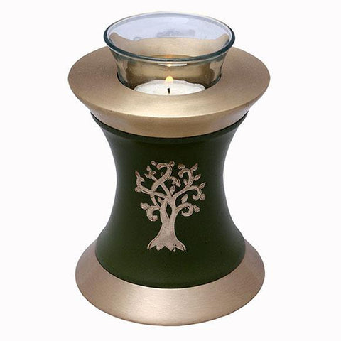 Solace Tree Tealight Urn in Green