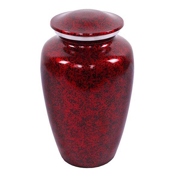 Starry Night Cremation Urn - Red Urn