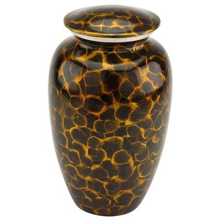 Tigers Eye Brass Urn For Ashes - Exquisite Urns