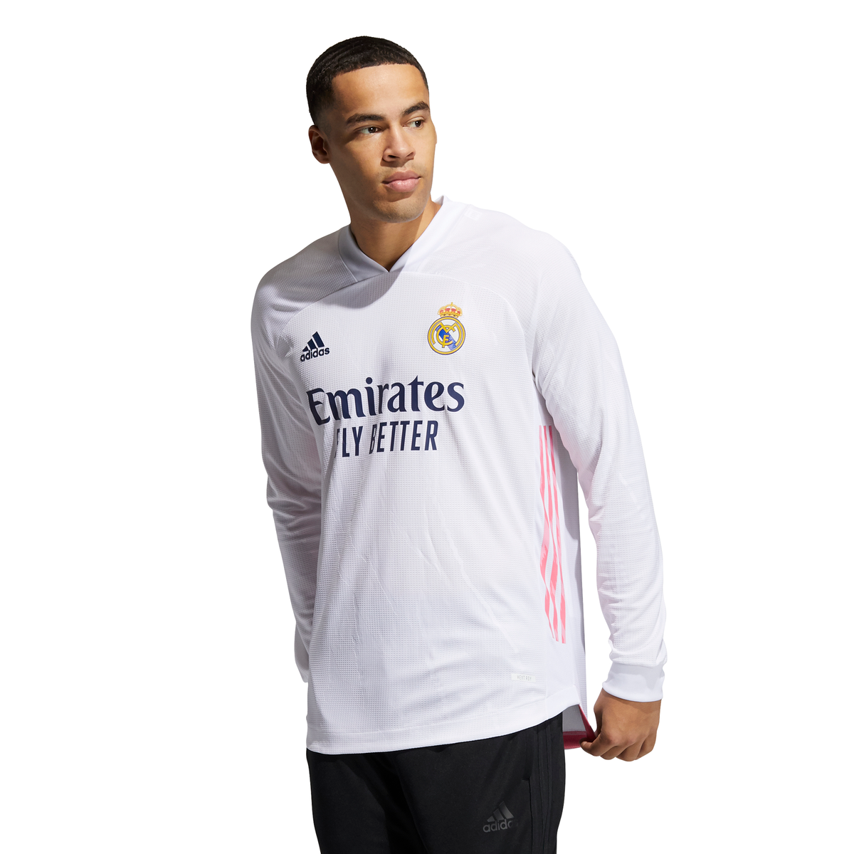 Men's adidas Real Madrid Authentic Home Long Sleeve Jersey 20/21