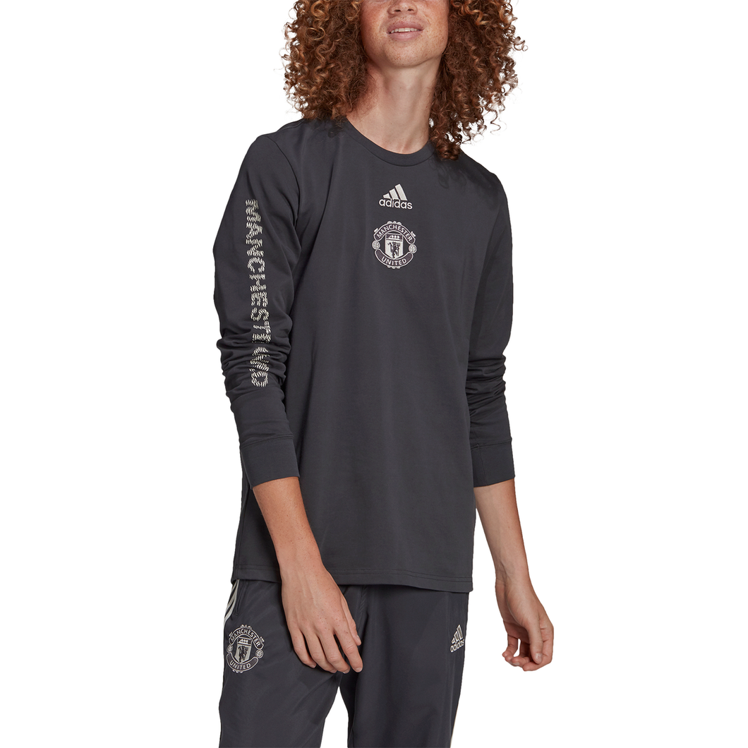 Men's adidas Man United Long Sleeve Tee