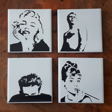 Load image into Gallery viewer, Fabulous Laser engraved ceramic tile Movie icons coasters