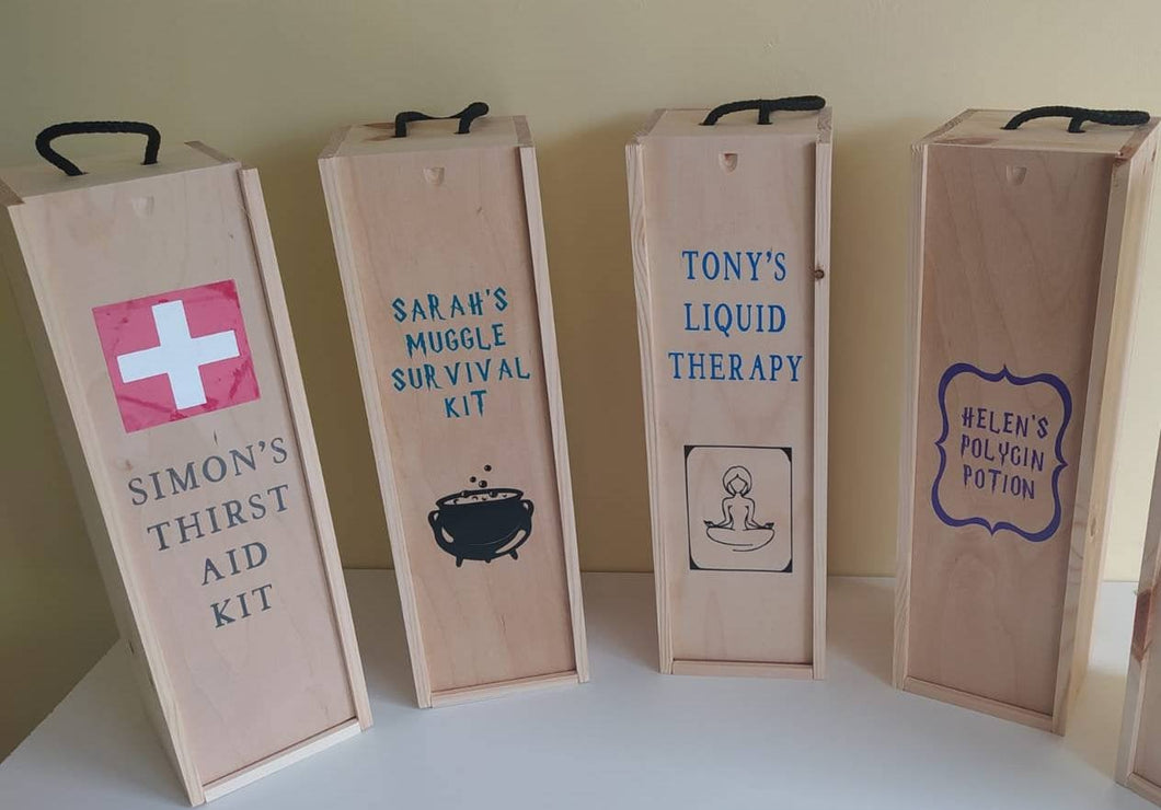 Personalised Wine Bottle box/ carrier