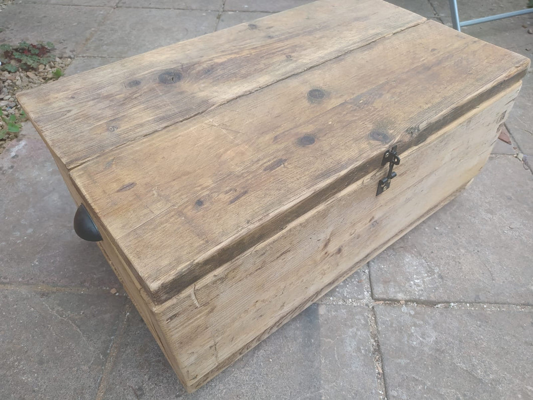 Beautiful handmade Blanket Box/Coffee table. Reclaimed scaffolding planks.