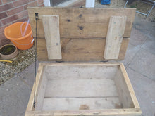 Load image into Gallery viewer, Beautiful handmade Blanket Box/Coffee table. Reclaimed scaffolding planks.