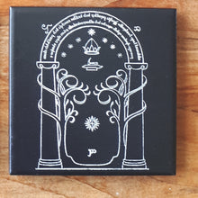 Load image into Gallery viewer, Geek Heaven! Lord of the Rings Laser engraved ceramic tile coasters