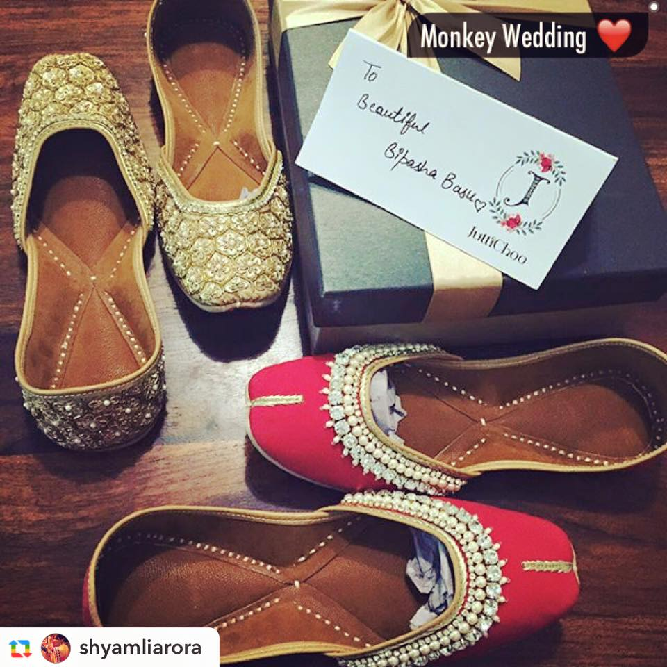 Guess what Footwear Bipasha Basu Decided to wear on her Wedding Day