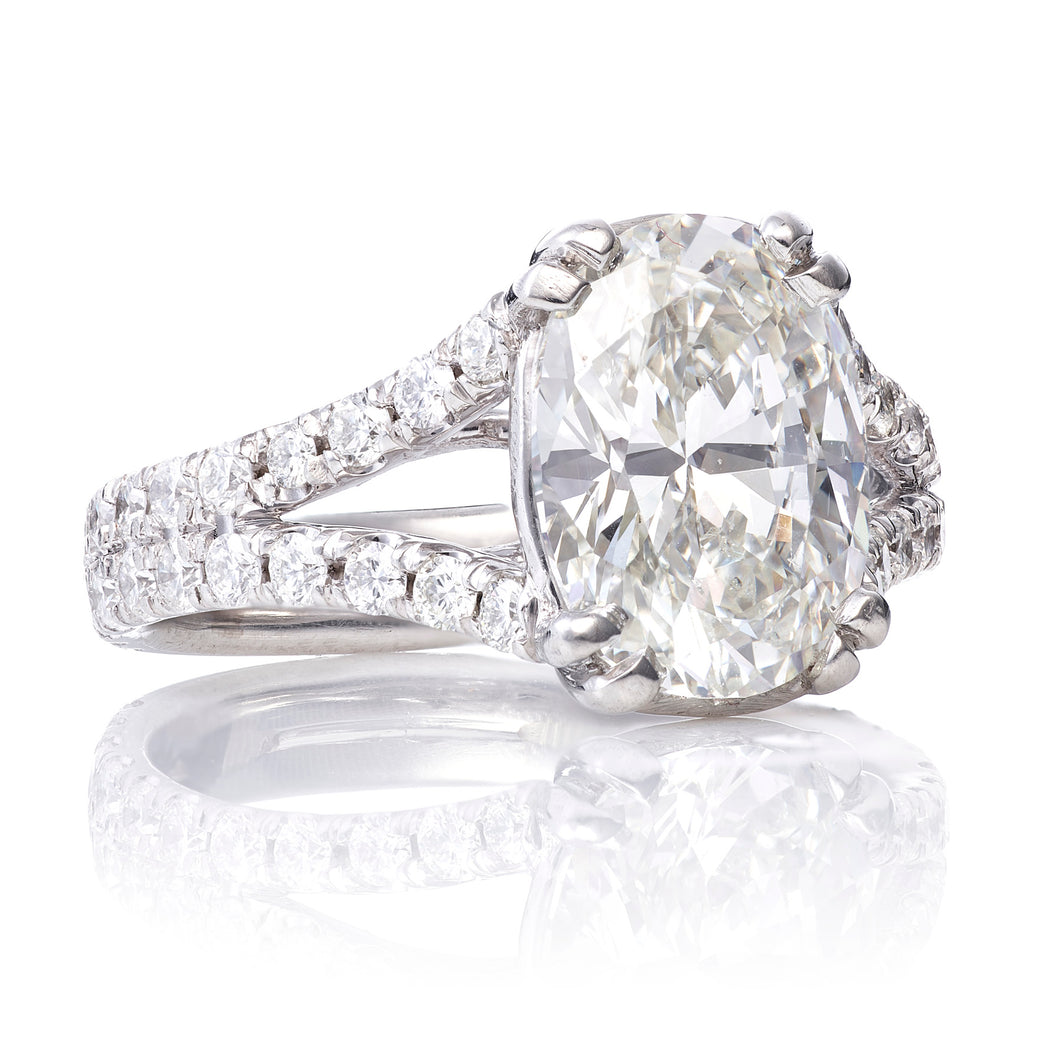 Custom-Made 2.79 ct Platinum Diamond Ring