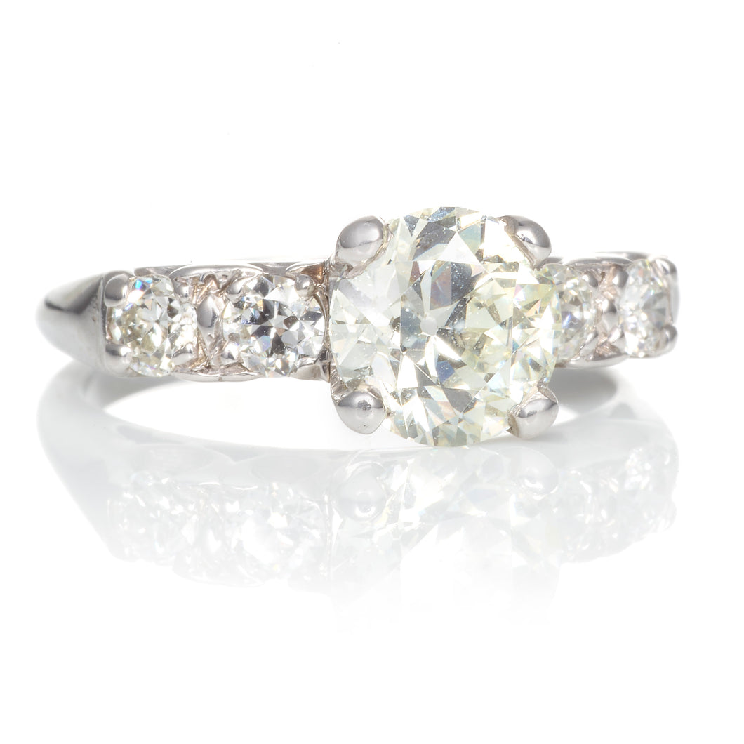 Classic Vintage Old European Cut Diamond Ring