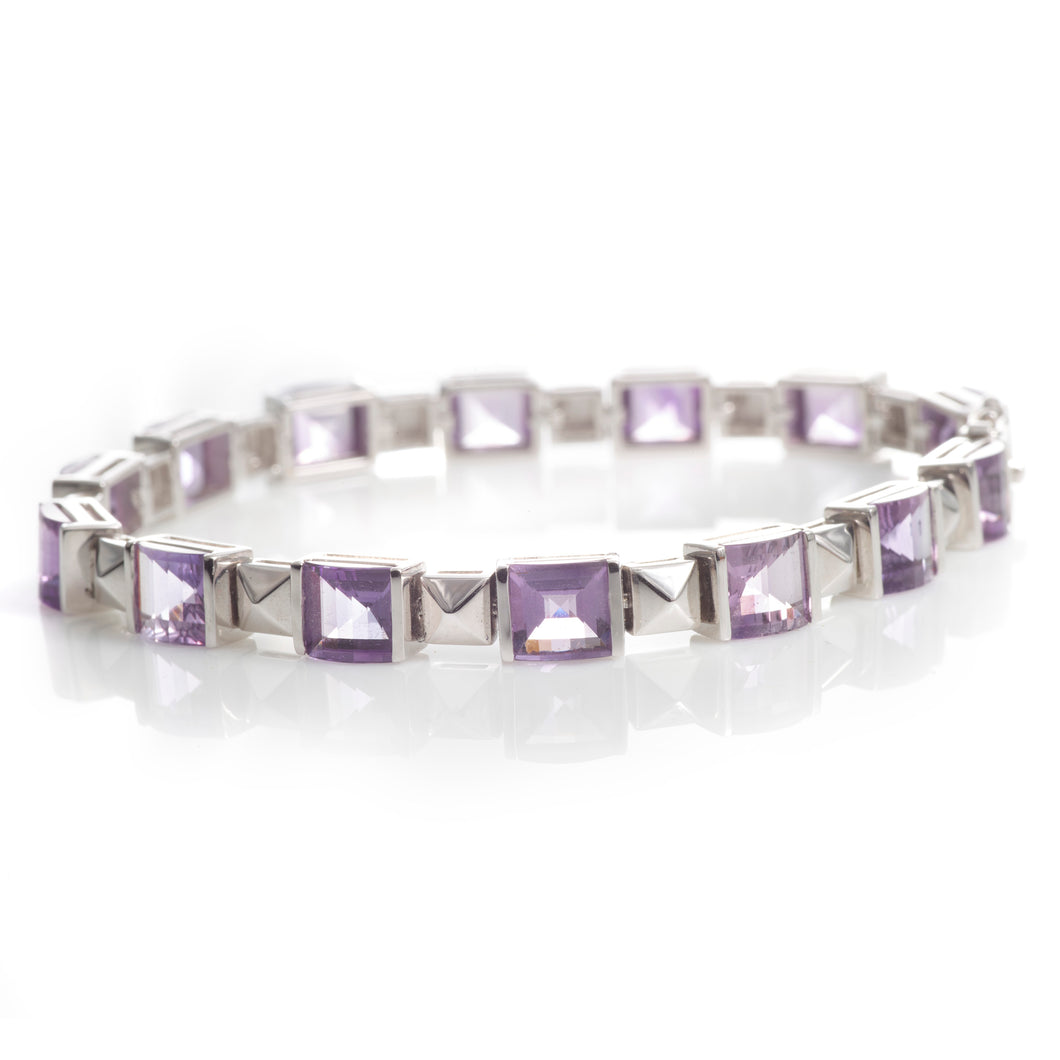 Amethyst and White Gold Bracelet