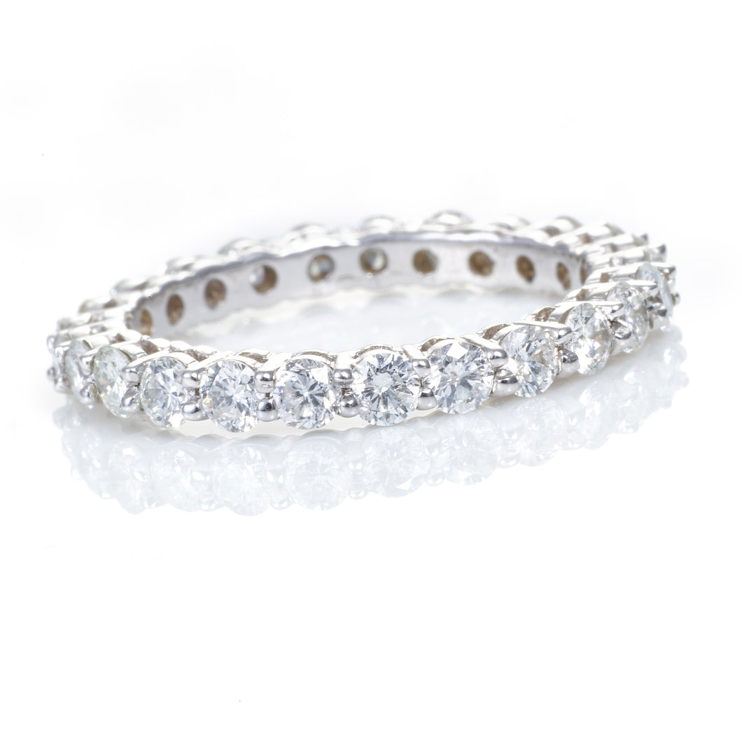 Diamond Eternity Band in 14K White Gold Size 6.5