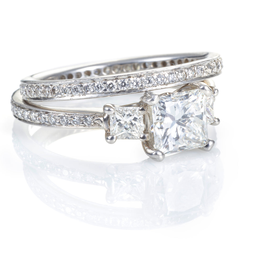 Ritani Diamond Wedding Ring Set in Platinum